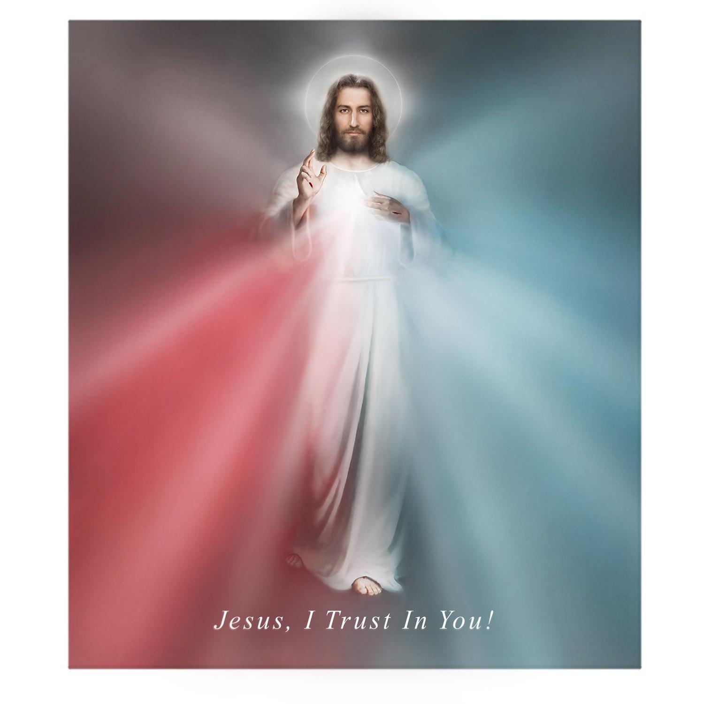 The Divine Mercy Print artwork by Richard L George