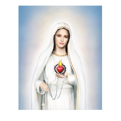 Our Lady of Fatima Immaculate Heart Gallery Wrapped Canvas Art Print