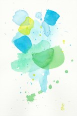 Waft, watercolor, by R.L. Gibson