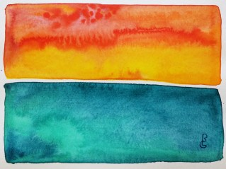 """""""Santee Sunset"""" (5""""x7"""" watercolor on 140lb waterpress) by R.L. Gibson"""