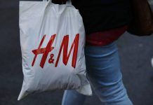 The large white bag synonmyous with H&M. Credit: SEAN GALLUP/GETTY.