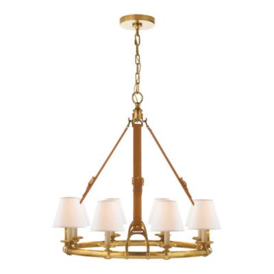 westbury chandelier in natural brass