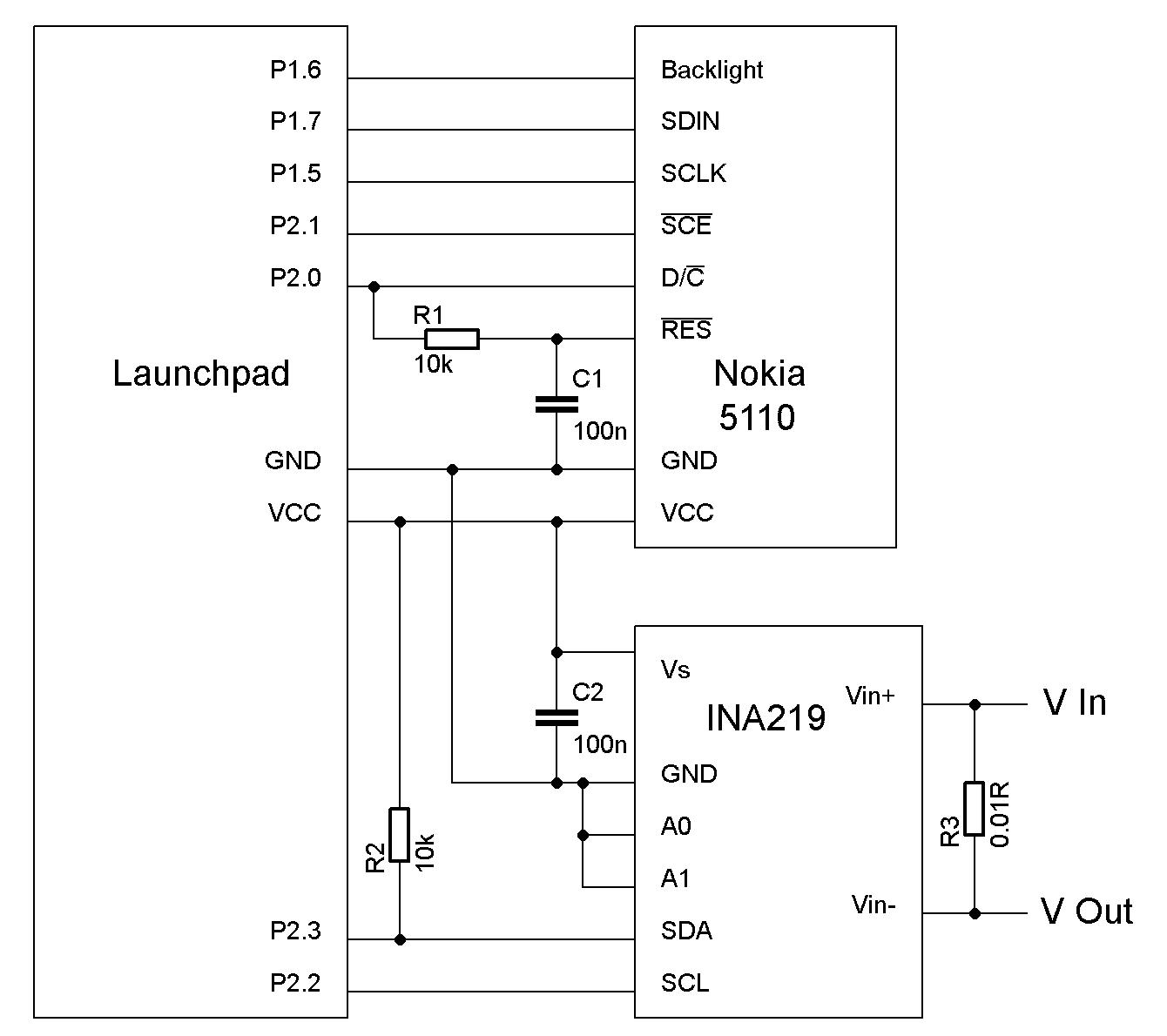 Volt Amp Watt Meter On Msp430 Launchpad