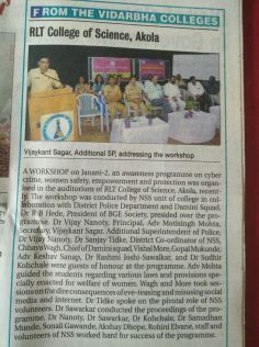 "Workshop conducted on ""JANANI-2"""
