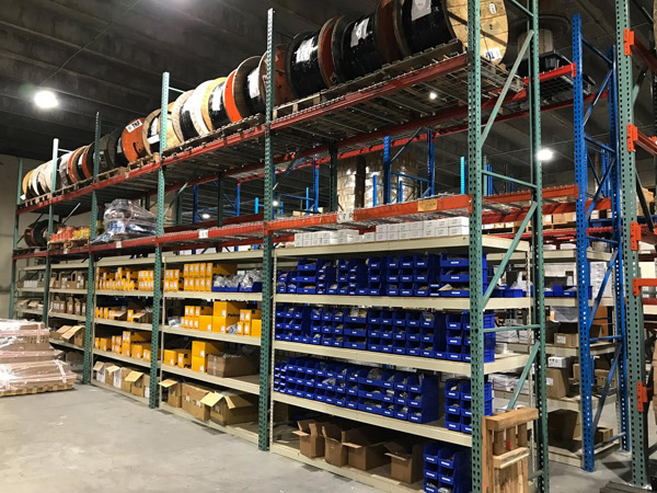 IEC electrical, cable and lighting stock in Miami Warehouse