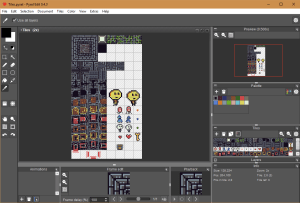 Editing a tileset in pyxel