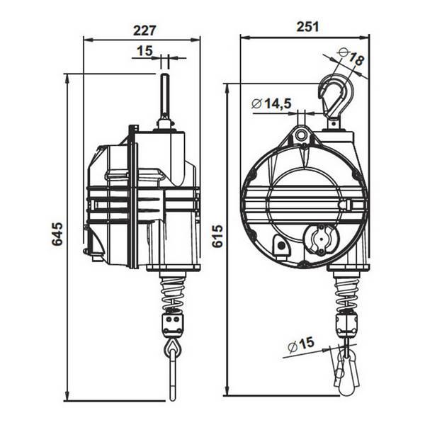 Equilibreur de charge ATEX 50 à 60 kg – Course 2,1 m