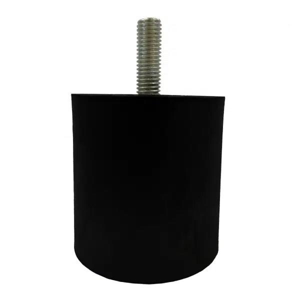 Tampon               amortisseur cylindrique caoutchouc Ø60 x 60 mm • Tige filetée M10 x 30 mm