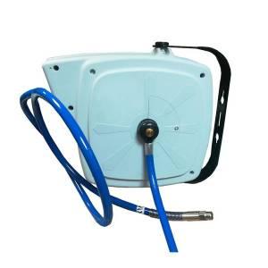 Enrouleur de tuyau à ressort carrossé pour air et eau