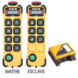 Radiocommande K806 • 6 boutons (2 crans) • Maître et esclave