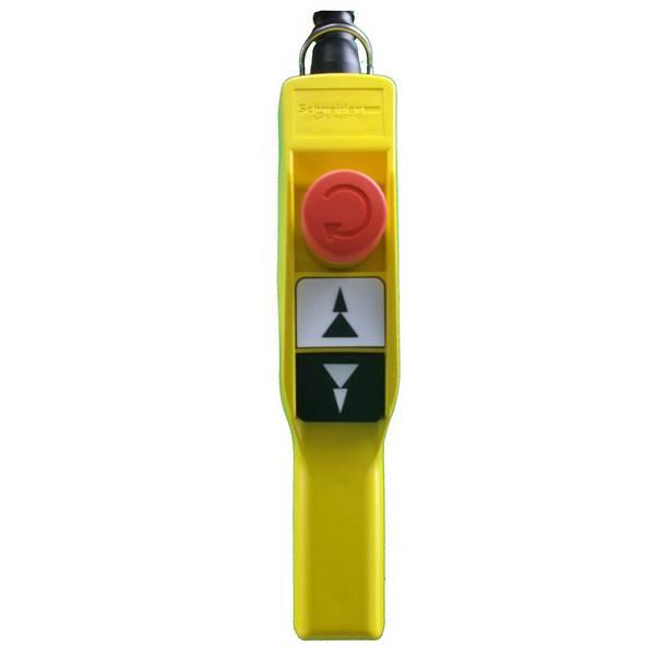 Boite à boutons   2 boutons poussoir (2 crans) + 1 arrêt d'urgence • XAC A Schneider