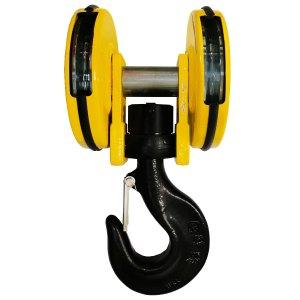 Moufle       pour palan 2 réas • Charge 4 t (M5) • Entraxe 172 mm • Pour câble Ø 8-9 mm