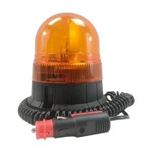 Gyrophare compact orange • câble 3m spiralé avec prise allume-cigare • Hauteur verrine 140 mm