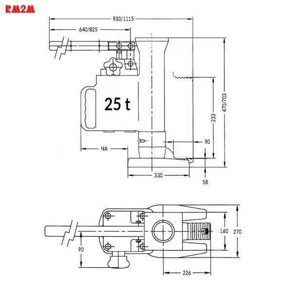 Cric hydraulique à patte  25 t