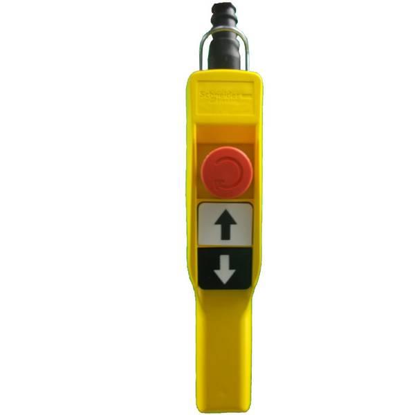 Boite à boutons    2 boutons poussoir (1 cran) + 1 arrêt d'urgence • XAC A Schneider