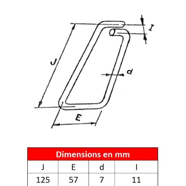 Linguet de sécurité en fil d'acier • Type 125