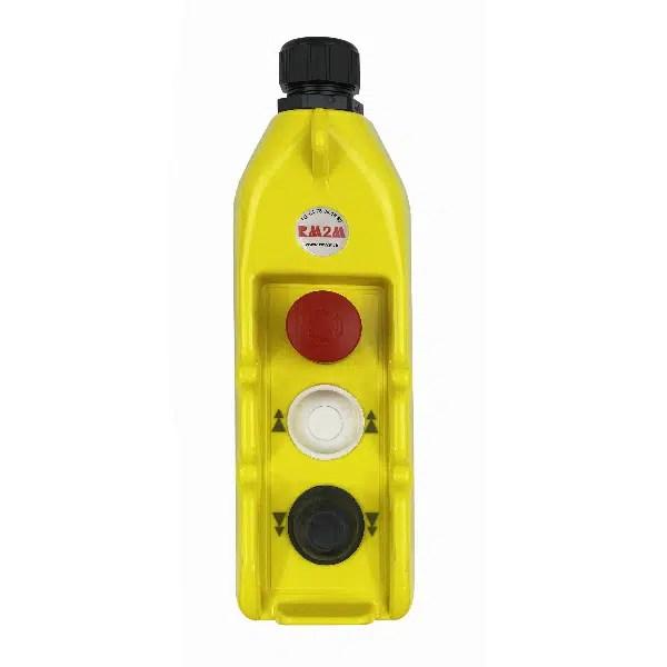 Boîte à boutons           2 boutons (1 cran) + 1 arrêt d'urgence