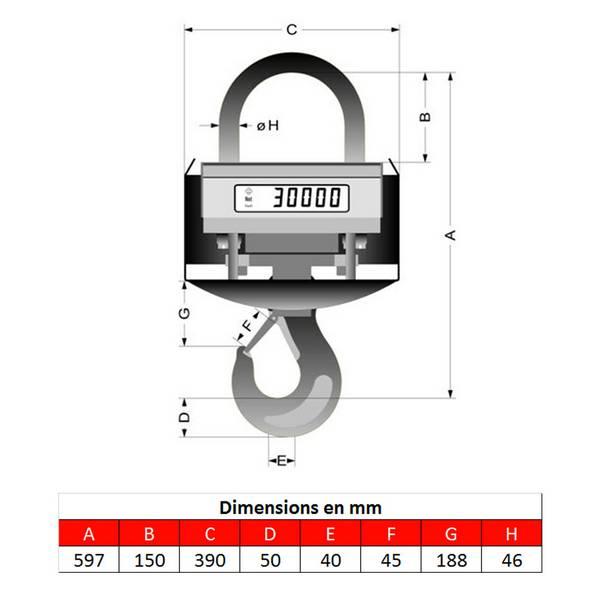 Peson  KGW5 – Fonderie – Capacité 0 à 5 t
