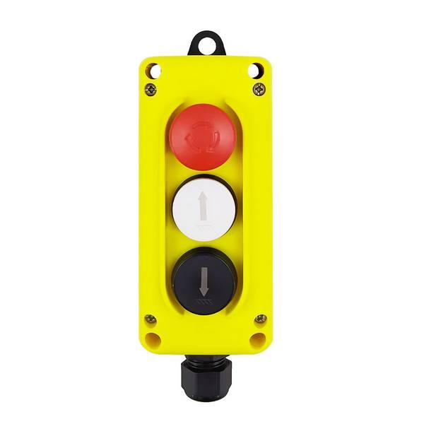 Boîte à boutons            2 boutons + 1 arrêt d'urgence avec 1 aimant et câble spiralé de 3 m