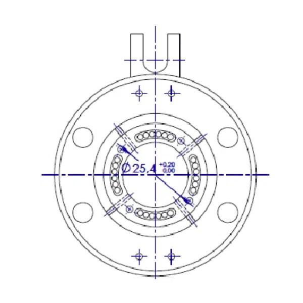 Collecteur  électrique à montage sur axe creux Ø25.4mm • 24 bagues • 2A