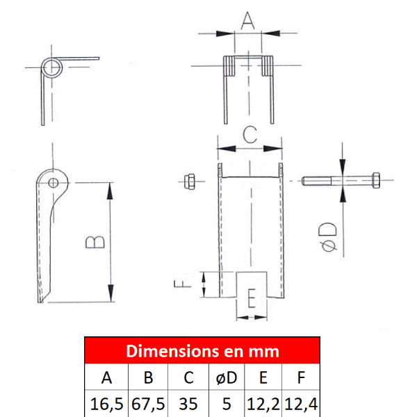 Linguet de sécurité 2DS-0D5