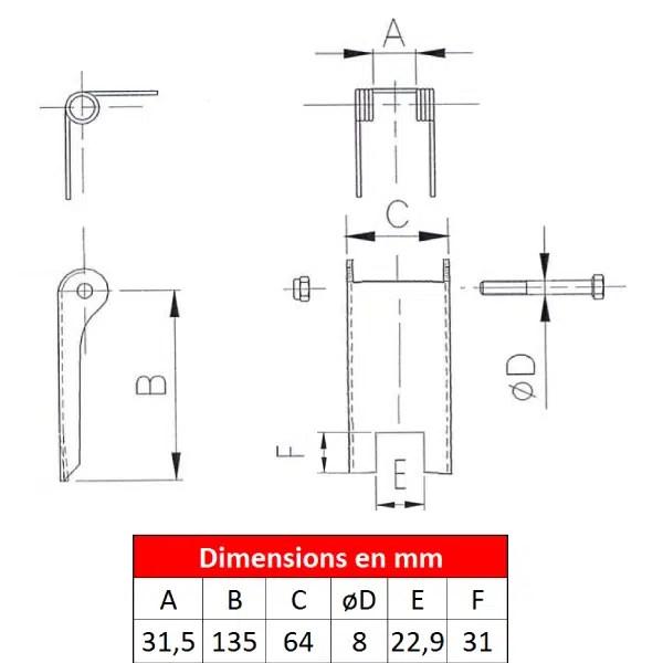 Linguet de sécurité 2DS-0D9
