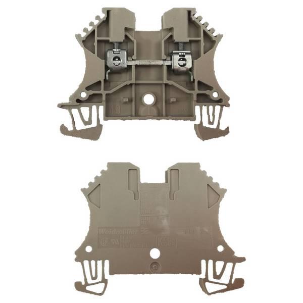 Borne pour montage sur rail oméga pour fil 2,5 mm² (serrage par vis)