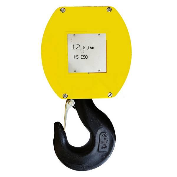 Moufle   pour palan 2 réas • Charge 12,5 t (M5) • Entraxe 221mm • Pour câble Ø 11-12mm
