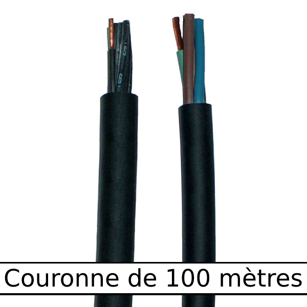Câble                  rond gaine néoprène • 3G1,5 mm² • 100 m