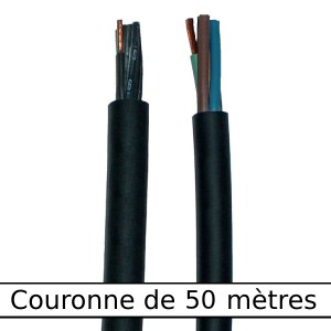 Câble                rond gaine néoprène • 3G4 mm² • 50 m