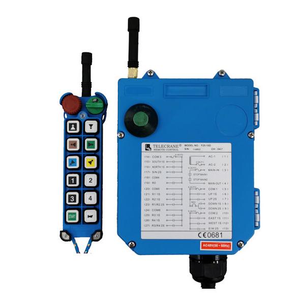 Radiocommande F25-10D      • (1 bouton 1 cran + 10 boutons 2 crans)