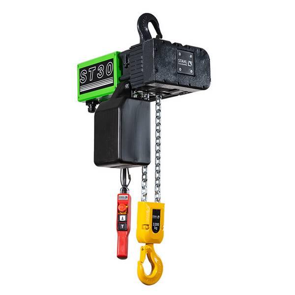 Palan             électrique à chaîne STAHL fixe à crochet (400V triphasé) 3 200 kg