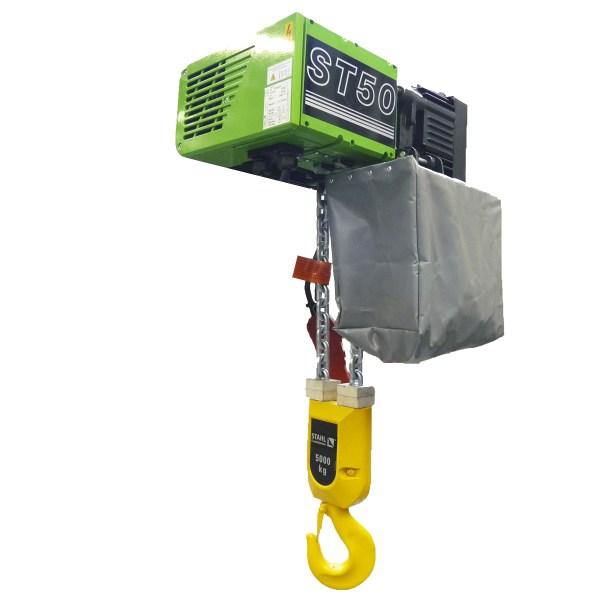 Palan     électrique à chaîne STAHL fixe à crochet (400V triphasé) 6 300 kg