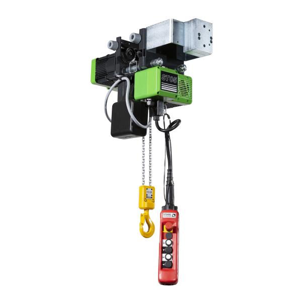 Palan électrique                      à chaîne STAHL avec chariot électrique HPN (400V triphasé) 500 kg