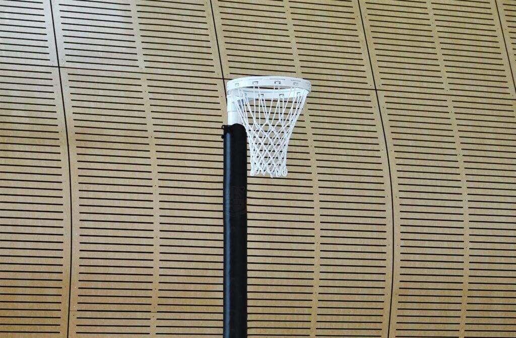 Indoor freestanding netball post