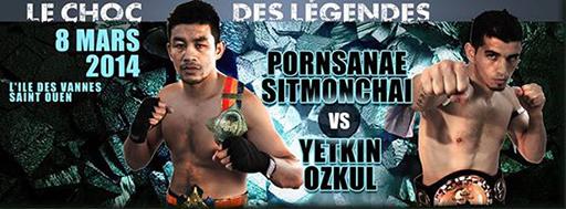Yetkin Ozkul du RMBOXING face à Pornsanae Sitmonchai au gala choc des légendes 2014