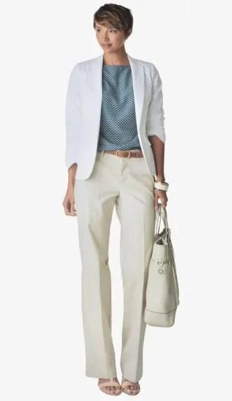 Woman In Dockers Metro Trouser