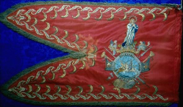 Estandarte del Regimiento de Voluntarios de Valencia. Año 1793