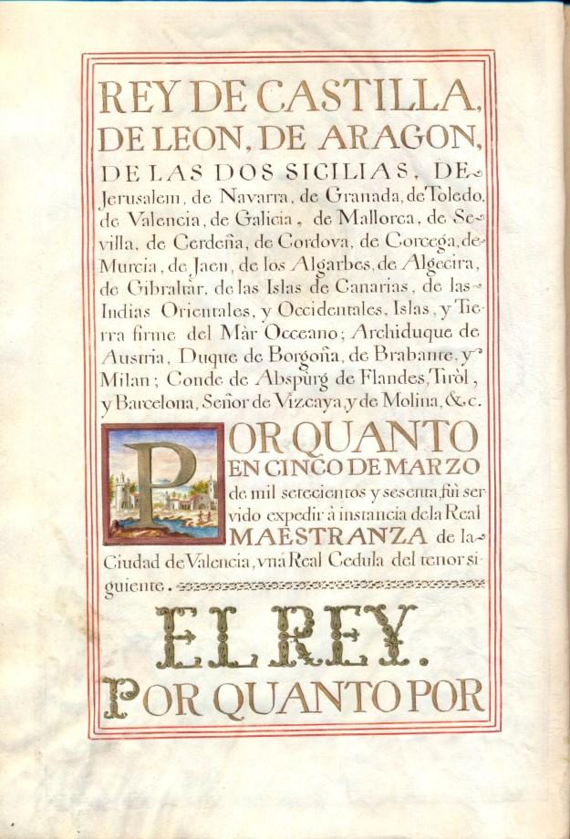 Ordenanzas de la Real Maestranza de Caballería de Valencia