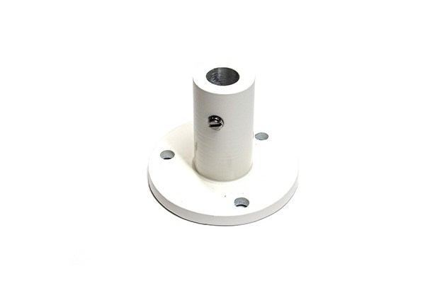 White Screw-down flange