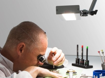 RMD joint lamp in a watchmaker workshop