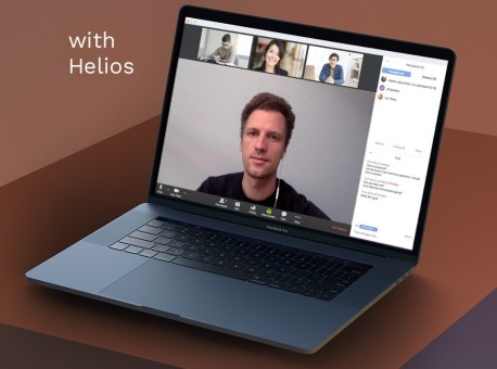 Video conference with Helios daylight lamp