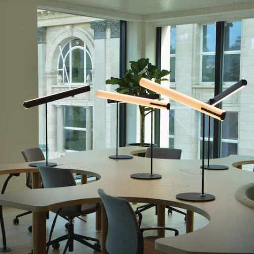 Helios table lamp in the office