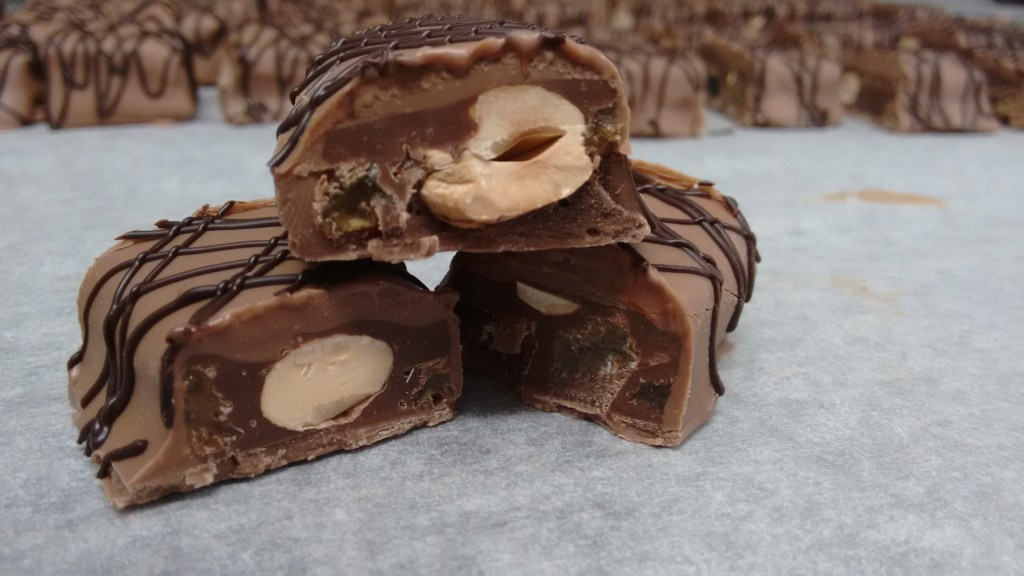 Chocolate, coconuts, pralines