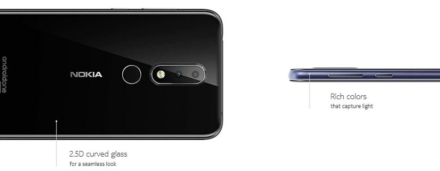 Nokia 6.1 Plus and 2.50 curved glass