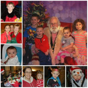 Collage of Photos from Santa Night 2015