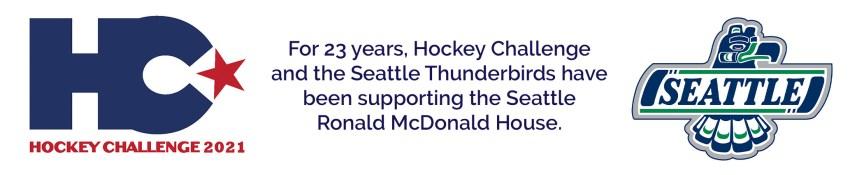 Hockey Challenge and Seattle Thunderbirds logos