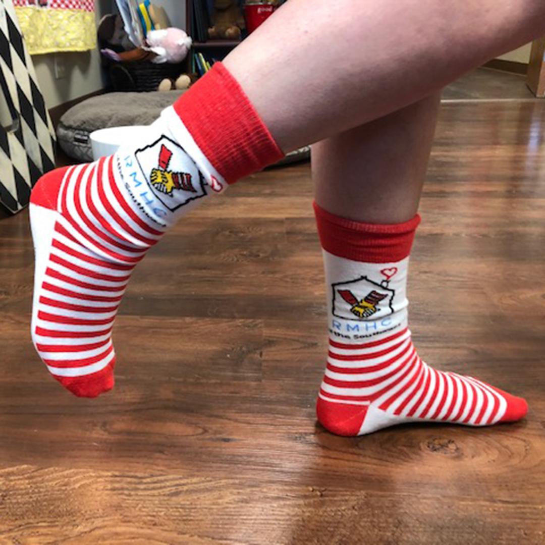 RMHC Striped Socks