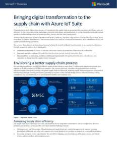 Bringing digital transformation to the supply chain with Azure IoT Suite