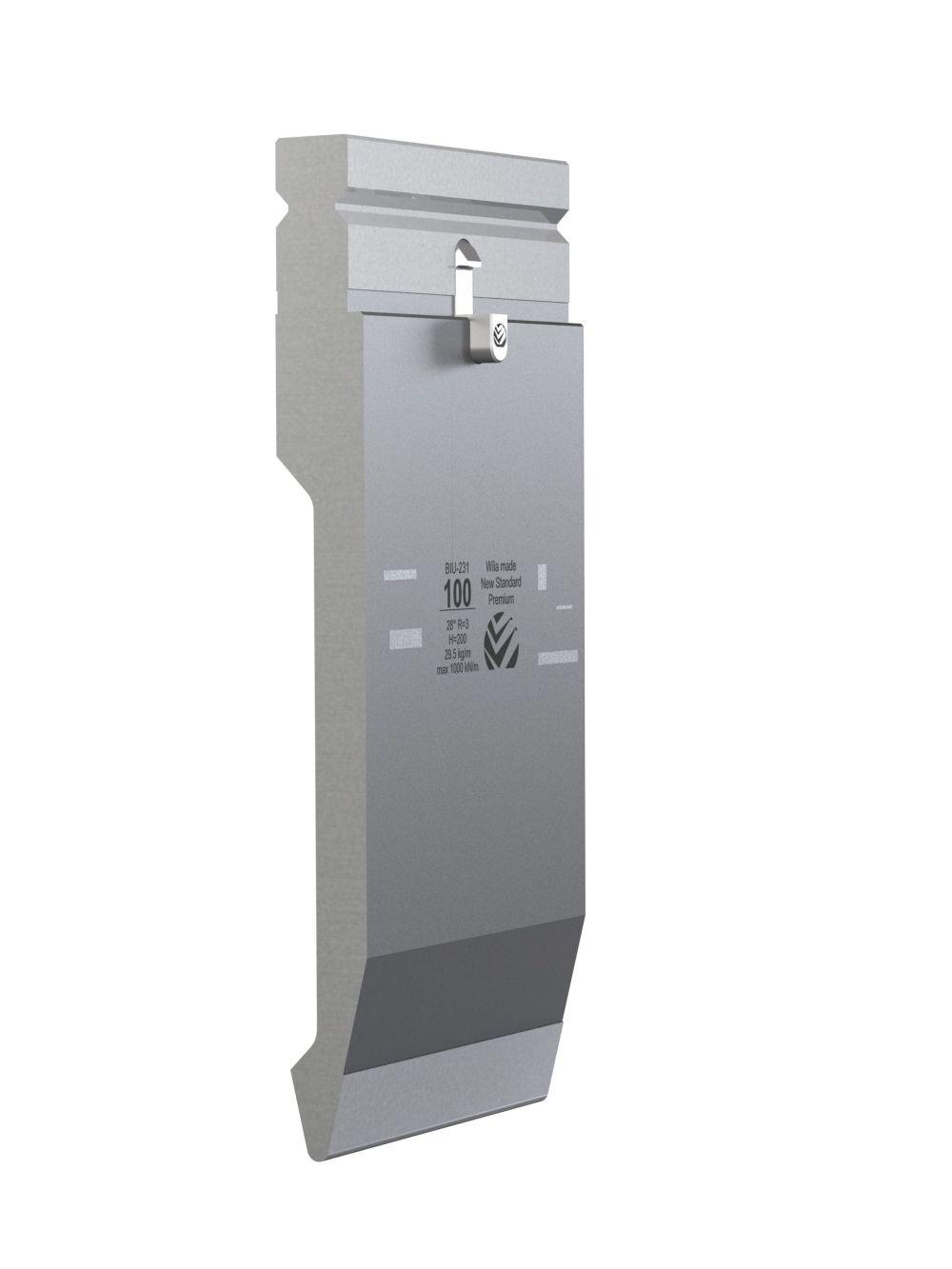 WILA BIU-231/1 New Standard Premium Top Tool H=200mm, a=28°, R=3mm, max.load: 100ton/m OPEN BOX, NEW